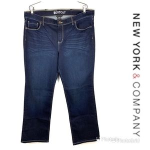 LIKE NEW NEW YORK & CO Bootcut Jeans Sz 18